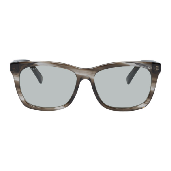 a0c8faab15b9 Gucci Transparent Tortoiseshell Oversized Wearable Sunglasses In 215 Brnhvng