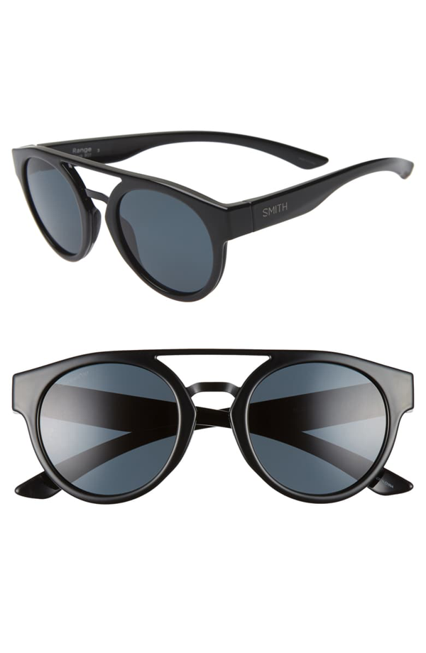 Smith Range 50mm Chromapop(tm) Sunglasses In Black/ Black