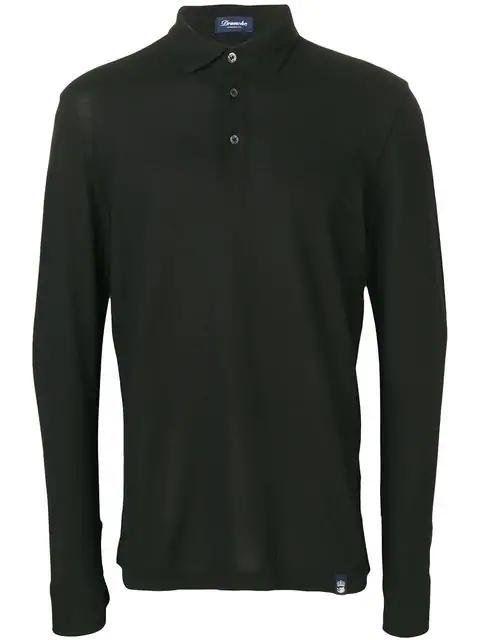 Drumohr Polo Shirt In Black