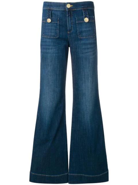 L'autre Chose High-waist Flared Jeans In Blue