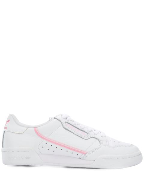 Adidas Originals Adidas Women's Originals Continental 80 Casual Shoes In Pink Size 7.5 Leather In White