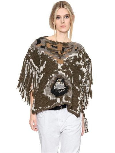 Isabel Marant Sleeveless Wool Blend Sweater In Multicolor