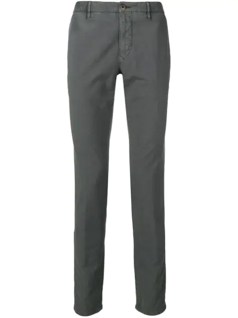 Incotex Schmale Chino - Grau In Grey