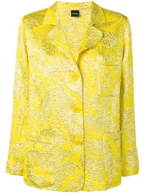 Aspesi Brocade Blazer In Yellow