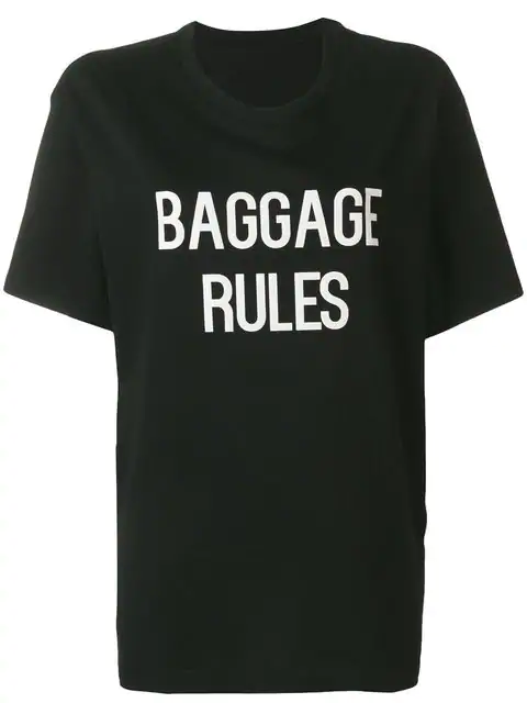 Yohji Yamamoto Slogan Print T-Shirt - Black
