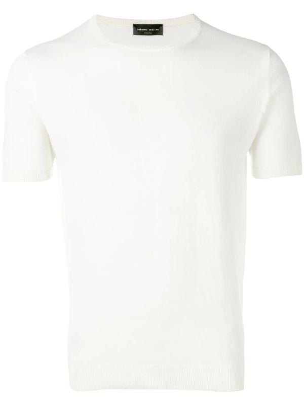 Roberto Collina Fine Knit T-Shirt - Neutrals