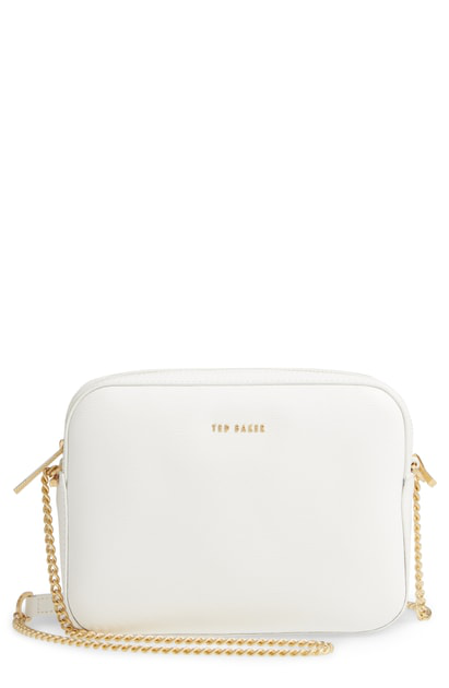 2b571c108 Ted Baker Judithh Bow Detail Leather Crossbody Bag - Beige In Taupe ...