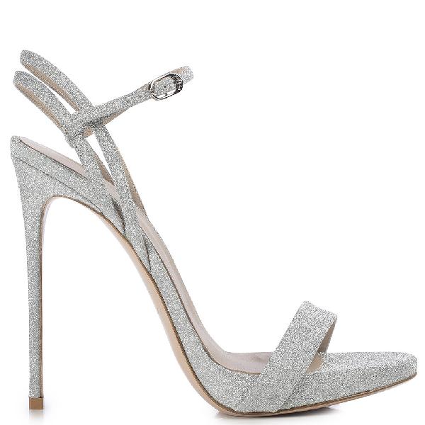 Le Silla Gwen Sandal 120 Mm In Silver
