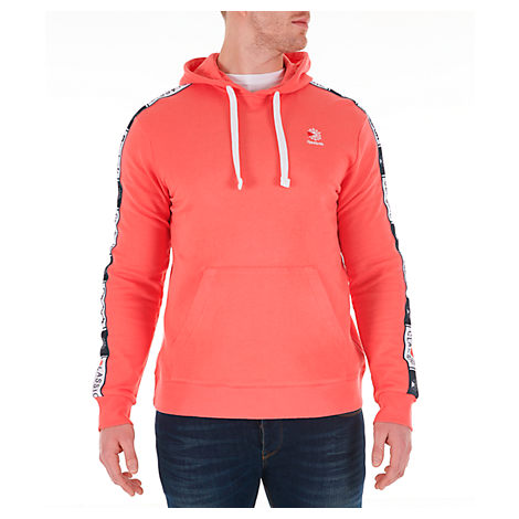 Reebok Men's Classics Taped Hoodie In Orange Size X-Large 100% Cotton