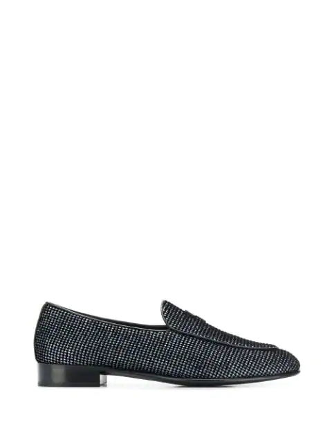 Giuseppe Zanotti Men's Embellished Suede Loafers In Antracite