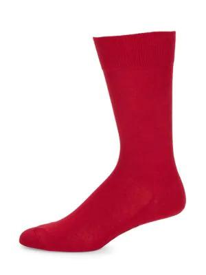Falke Men's Family Socks In Scarlet