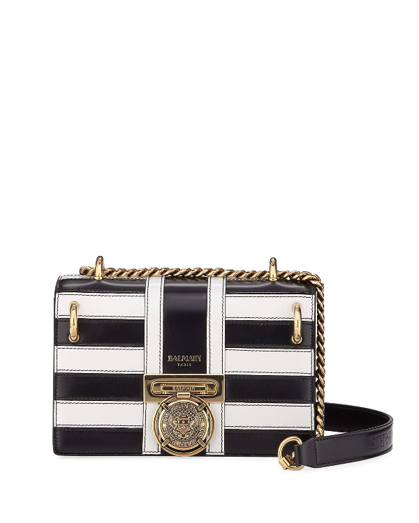 huge inventory cheap prices cheaper Bbox Mariniere Striped Leather Shoulder Bag in Black/White