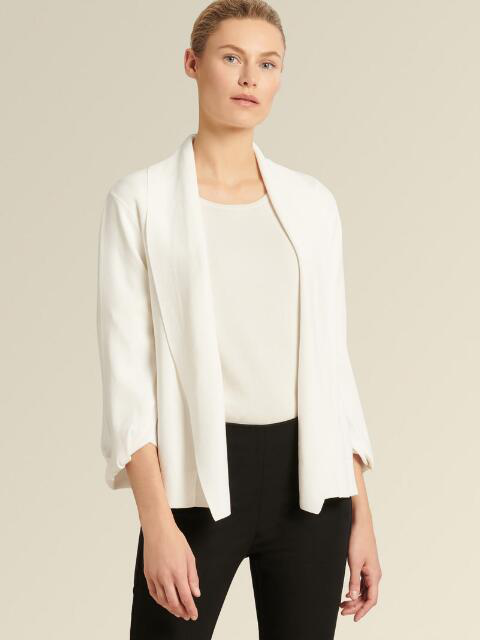 Donna Karan New York Open-Front Cropped Cardigan In Black