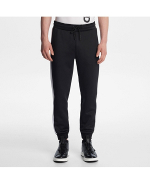 Karl Lagerfeld Paris Track Pant With Contrast In Black
