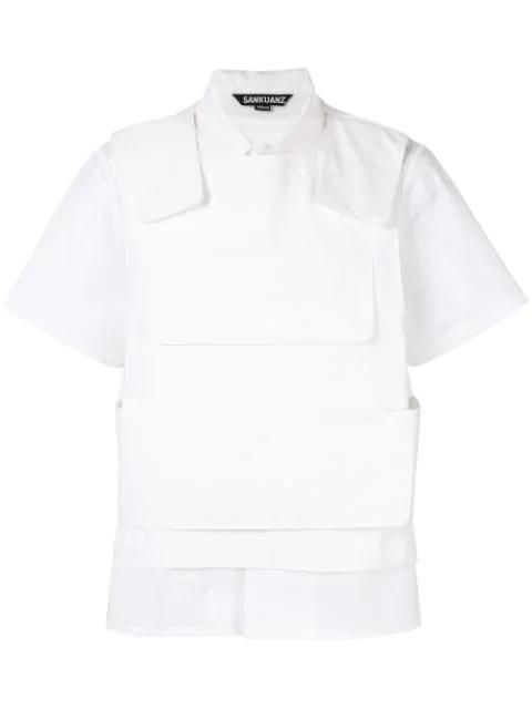 Sankuanz Bullet Proof Styled Vest In White