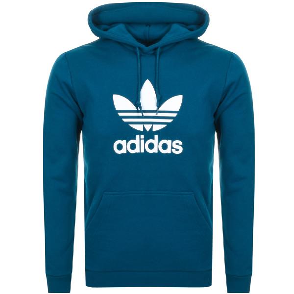 Trefoil Hoodie Blue by Adidas Originals