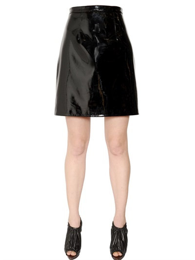 Christopher Kane Patent Leather Mini In Black