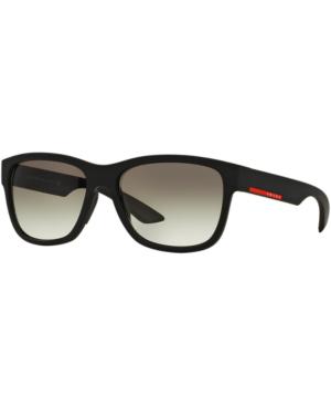 200d229b82e5 Prada Linea Rossa Sunglasses Black In Black Matte/Grey Gradient ...
