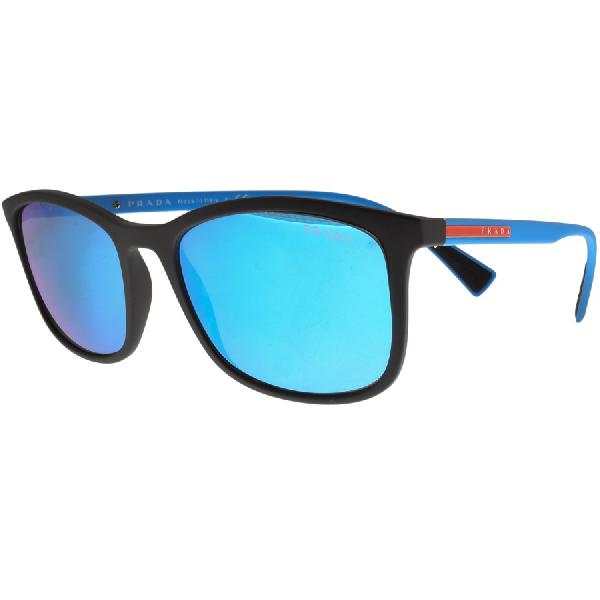 294306158081 Prada Linea Rossa Sunglasses Blue. Mainline Menswear