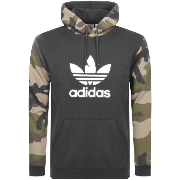 hot sale online 1de74 9513b Adidas Originals Pullover Hoodie Camo in Black