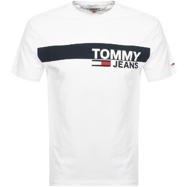 c55a0a59 Tommy Jeans Essential Logo T Shirt White | ModeSens
