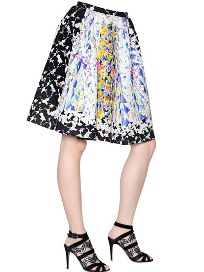 Peter Pilotto Emma Waffle Silk Skirt In Black