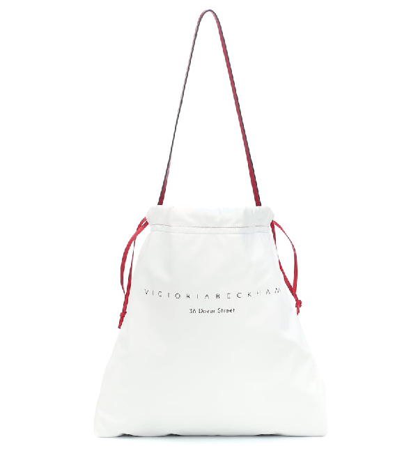 Victoria Beckham 36 Dover St Leather Shoulder Bag In White