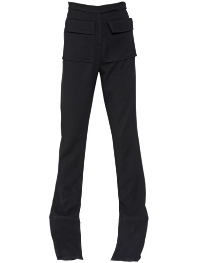 J.W.Anderson French Cuff Viscose Twill Pants In Black