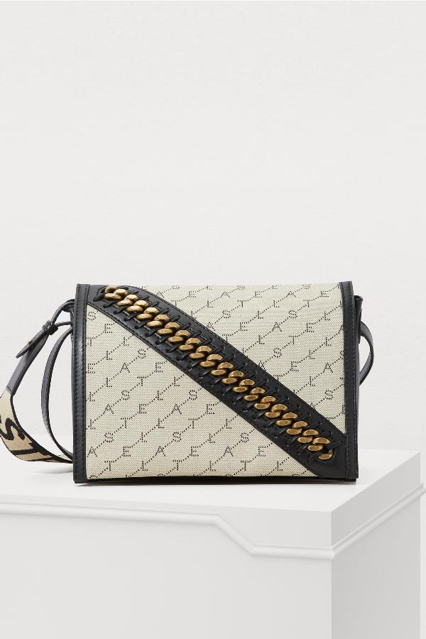 Stella Mccartney Shoulder Bag With Strap In 9740-Sand