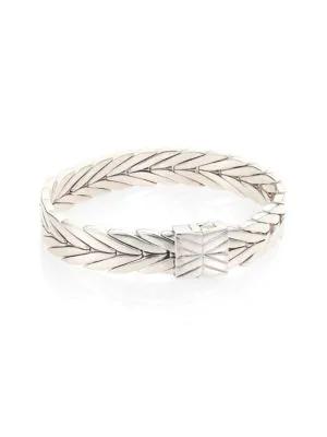 John Hardy Modern Chain Diamond & Sterling Silver Small Bracelet