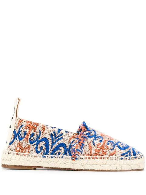 ChloÉ Woody Tapestry Slip-On Espadrilles In 425 Imperial Blue