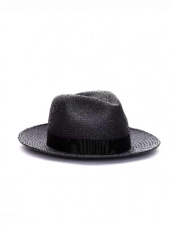 Yohji Yamamoto Dark Grey Straw Hat