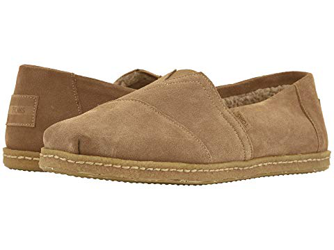 Toms , Toffee Suede W/ Shearling On Crepe
