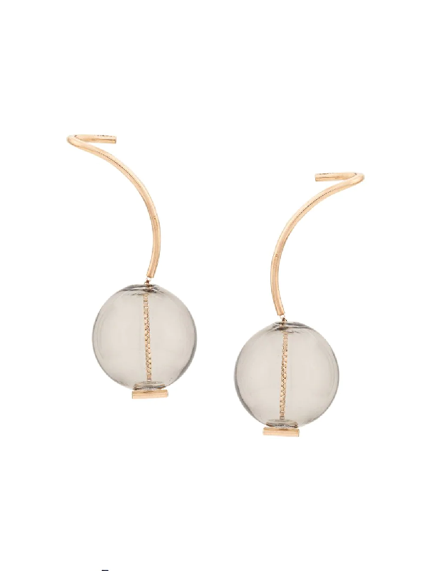 Annika Inez Smoke Drop Earrings - Gold