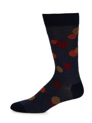 Marcoliani Men's Striped Balloons Mid-calf Socks In Dark Grey
