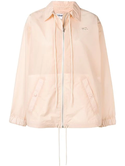 CourrÈGes Drawstring Detail Jacket In Pink