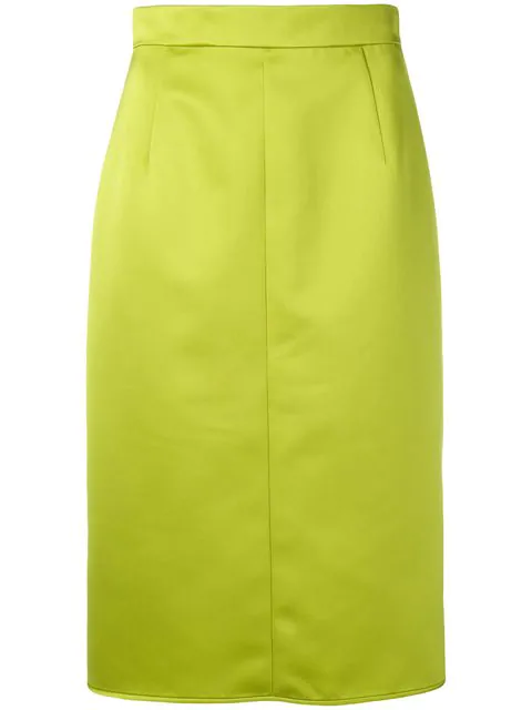 N°21 Midi Pencil Skirt In Green