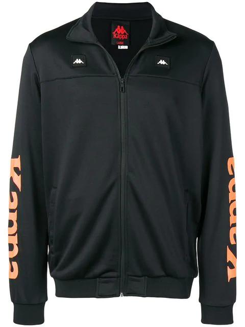 Kappa X Kalcio Zip-up Sweater In Black