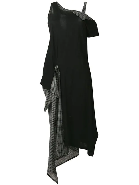 Yohji Yamamoto Layered Side Pouch Dress - Black