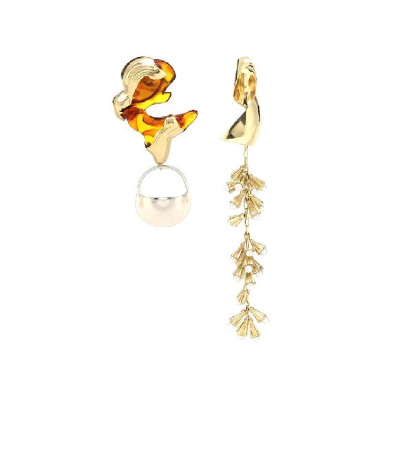 Ellery Leonard Collage Earrings In Gold