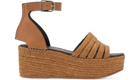 Loewe Platform Wedge Sandals In Brown