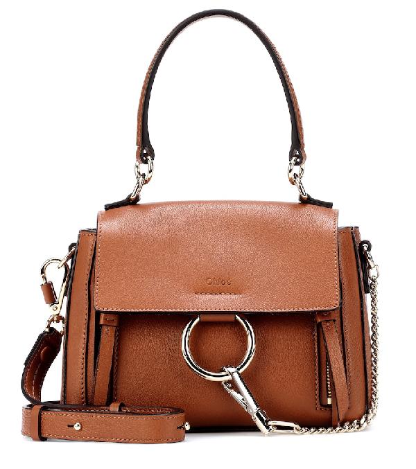 c6a23d5bda ChloÉ Faye Daye Mini Leather/Suede Shoulder Bag In Brown   ModeSens