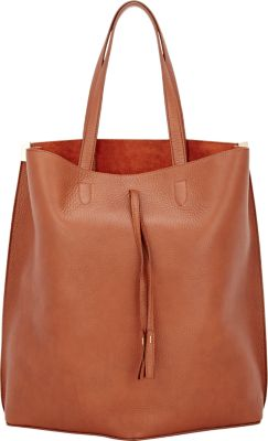 Maison Margiela Bucket Leather Shopper Tote Bag - Brown