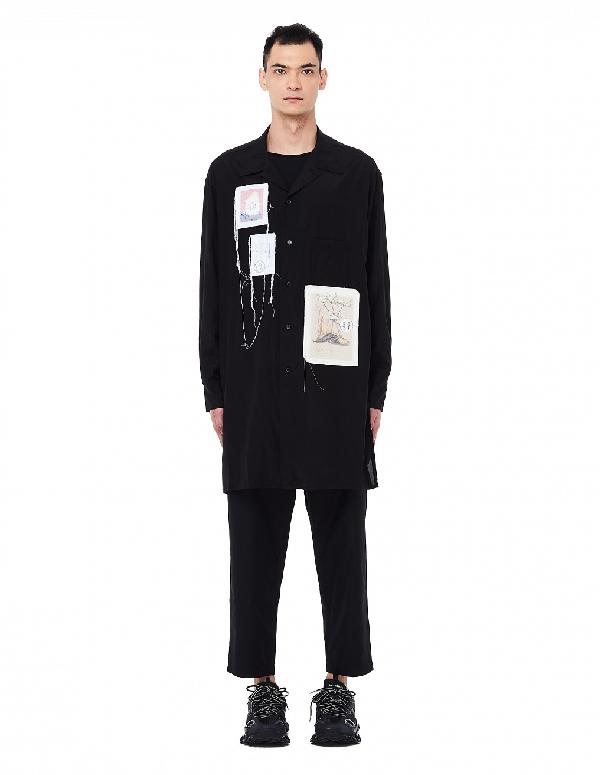 Yohji Yamamoto Black Patched Shirt