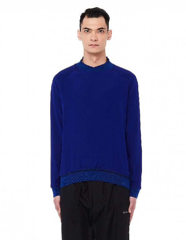 Haider Ackermann Blue Silk Sweatshirt