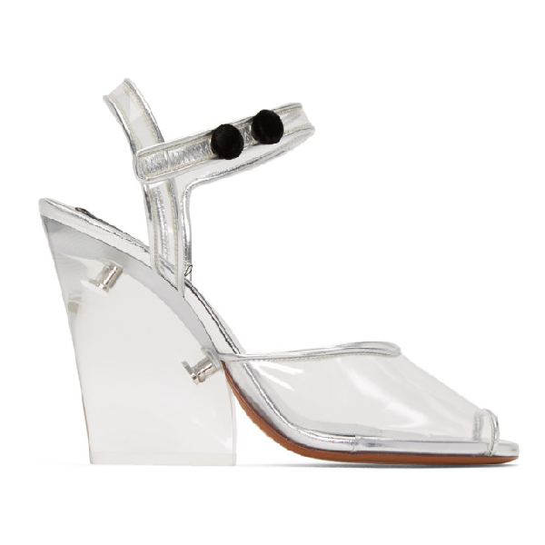 Marc Jacobs Women's Transparent High-heel Wedge Sandals In Clear