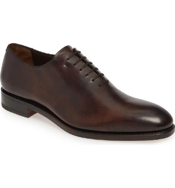 Salvatore Ferragamo Men's Angiolo Leather Plain-Toe Oxfords In Africa
