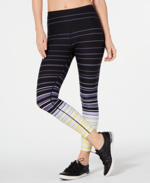 Calvin Klein Performance Printed High-Waist Cropped Leggings In Black Combo