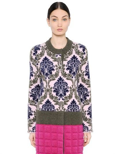 Mary Katrantzou Wool Jacquard Coat In Multicolor