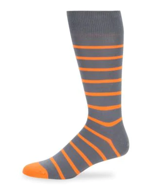 Paul Smith Men's Neon Stripe Socks In Grey